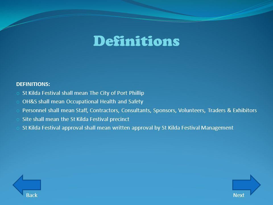 Definitions DEFINITIONS: