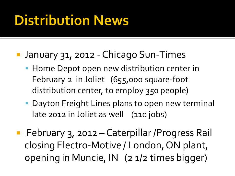 Distribution News January 31, 2012 - Chicago Sun-Times