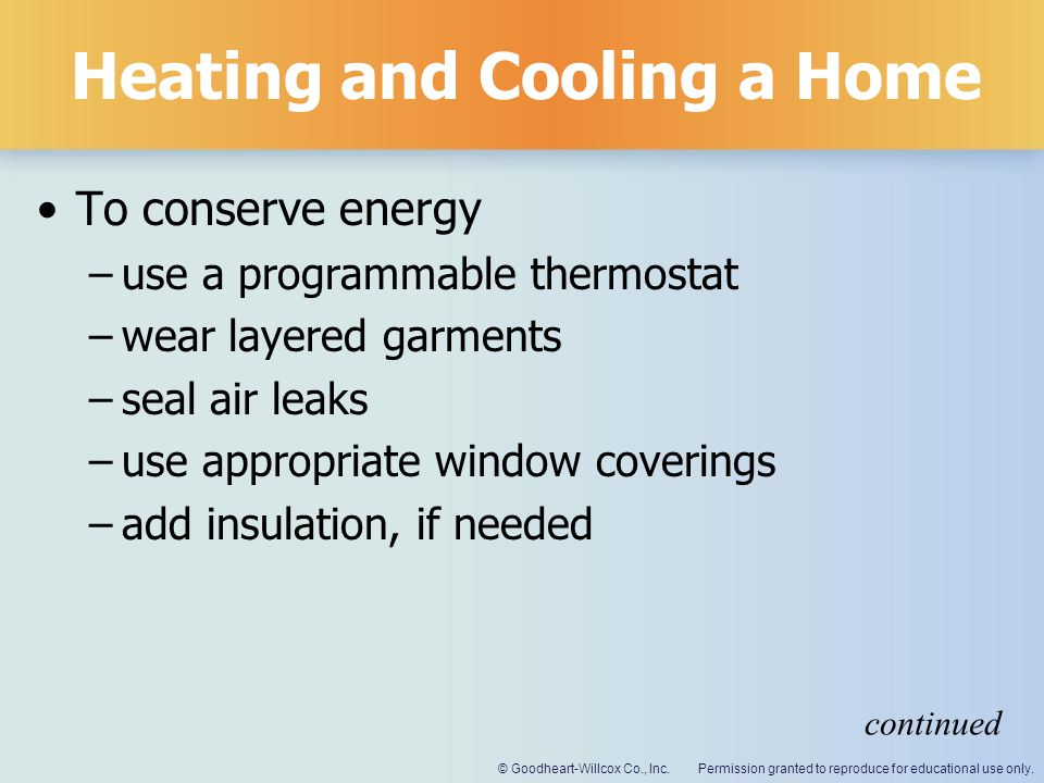Heating and Cooling a Home