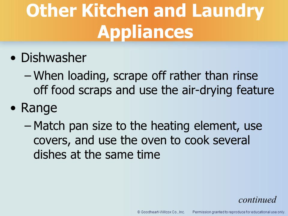 Other Kitchen and Laundry Appliances