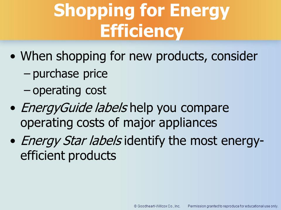 Shopping for Energy Efficiency