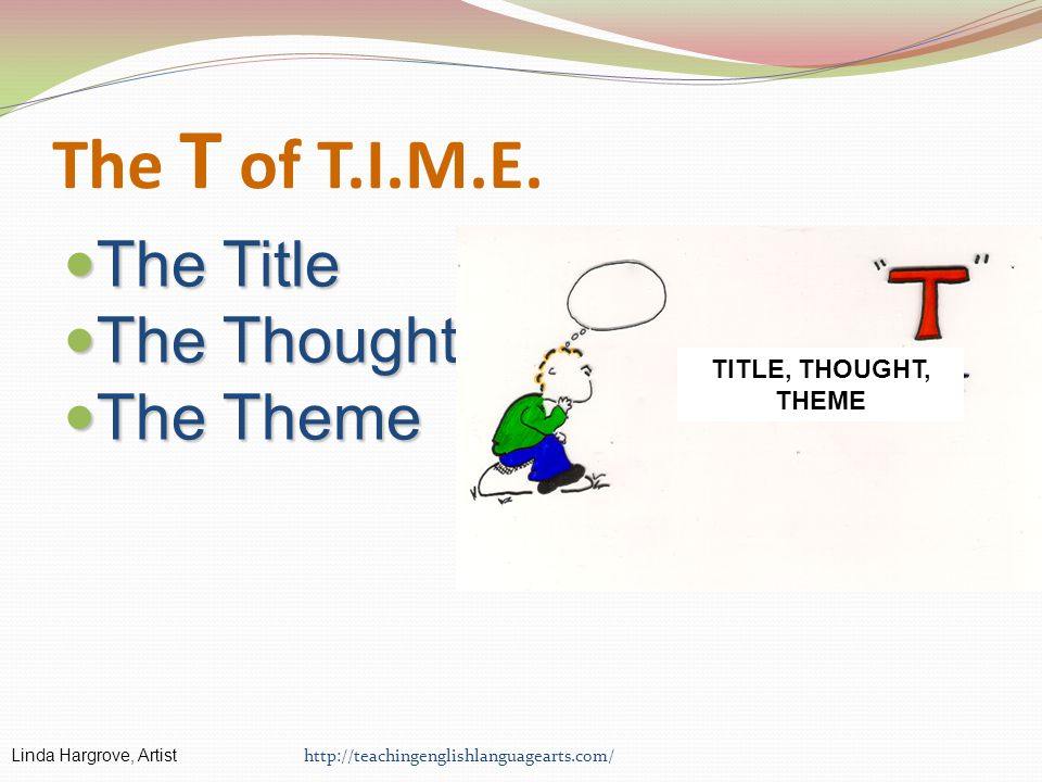 The T of T.I.M.E. The Title The Thought The Theme
