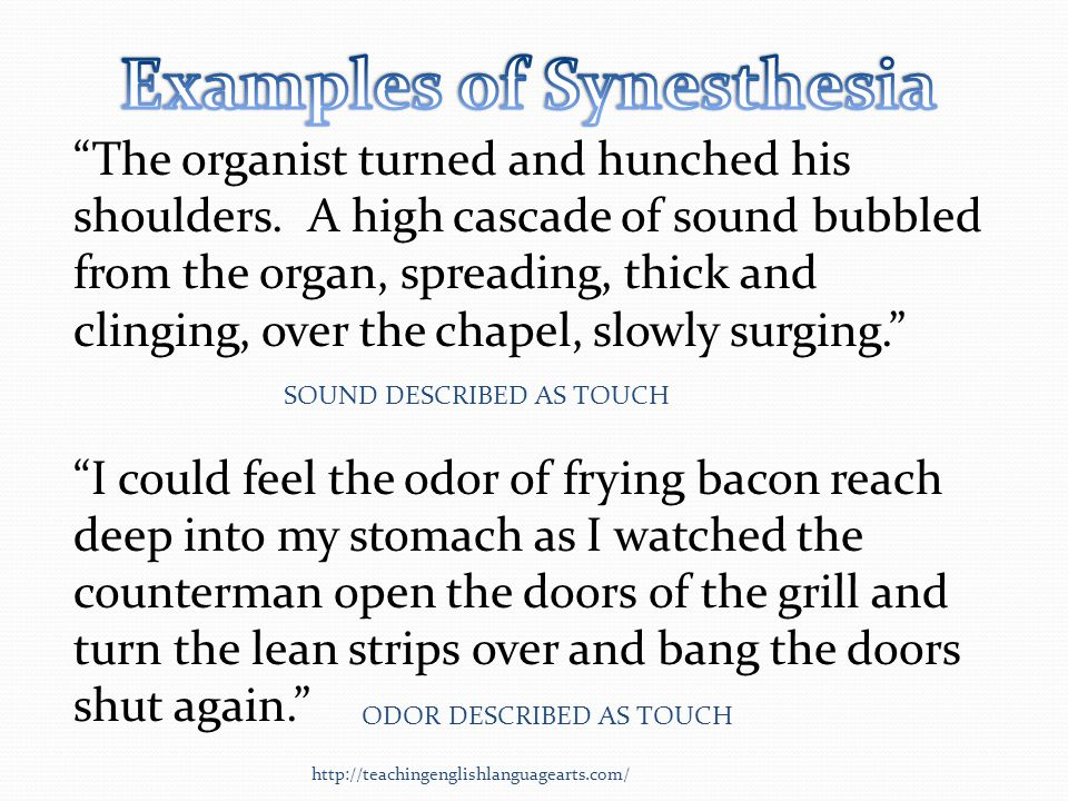 Examples of Synesthesia