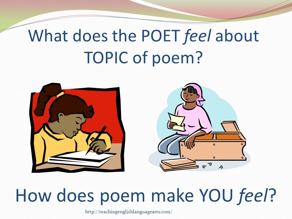 What does the POET feel about TOPIC of poem