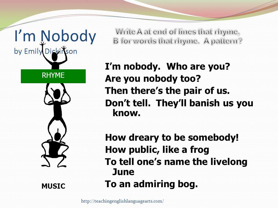 I'm Nobody by Emily Dickinson