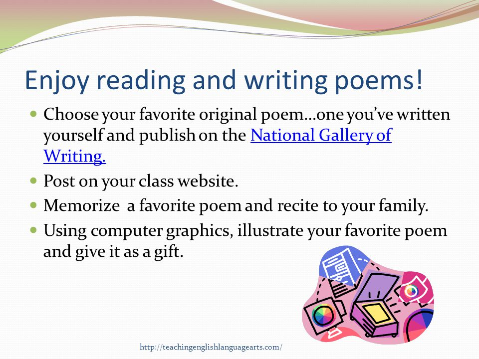 Enjoy reading and writing poems!