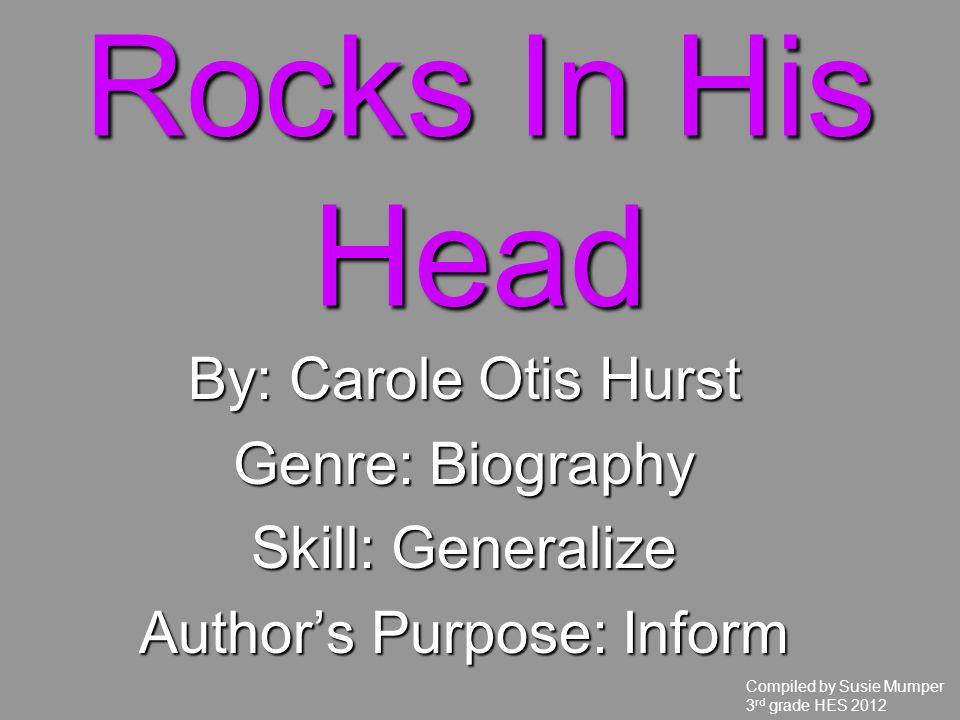 Author's Purpose: Inform