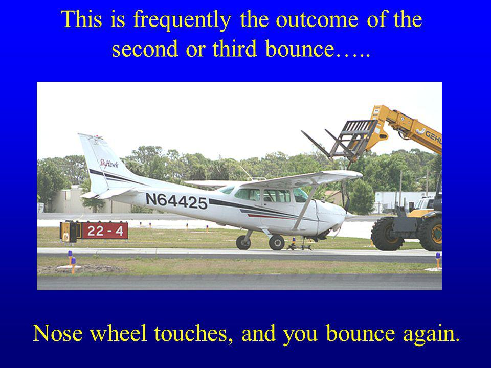 This is frequently the outcome of the second or third bounce…..