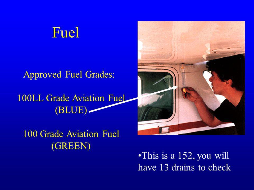 Fuel Approved Fuel Grades: 100LL Grade Aviation Fuel (BLUE)