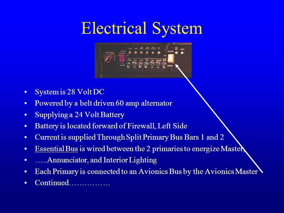 Electrical System System is 28 Volt DC