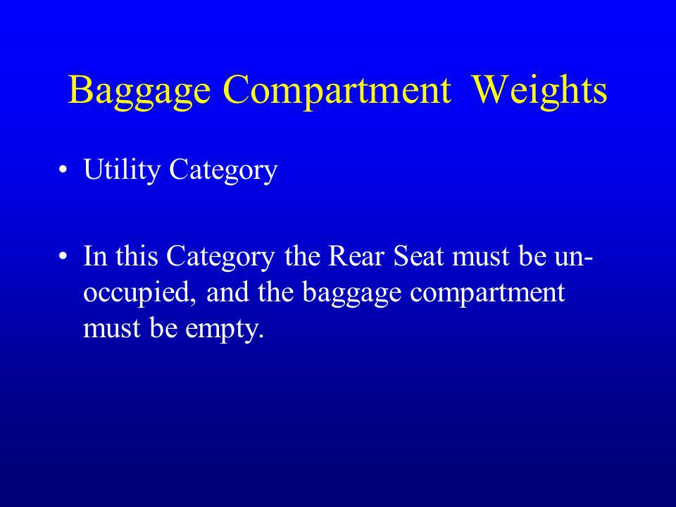Baggage Compartment Weights