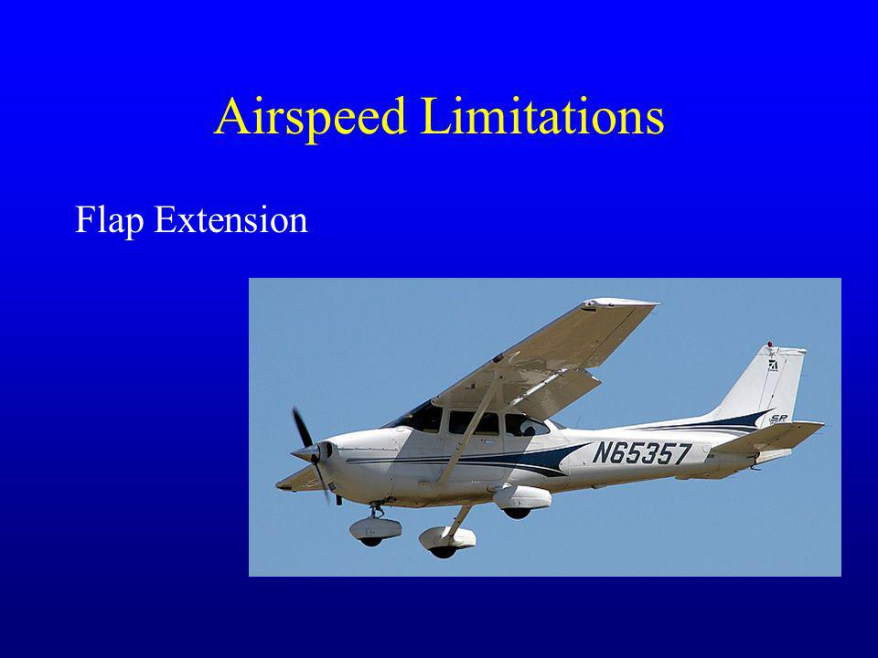 Airspeed Limitations Flap Extension