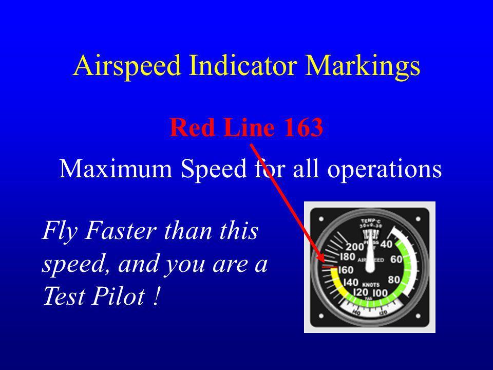 Airspeed Indicator Markings