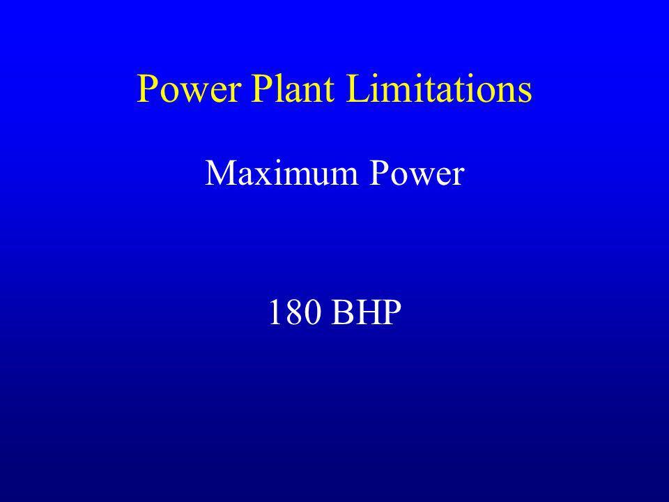 Power Plant Limitations