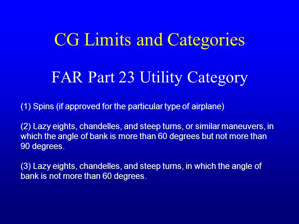 CG Limits and Categories