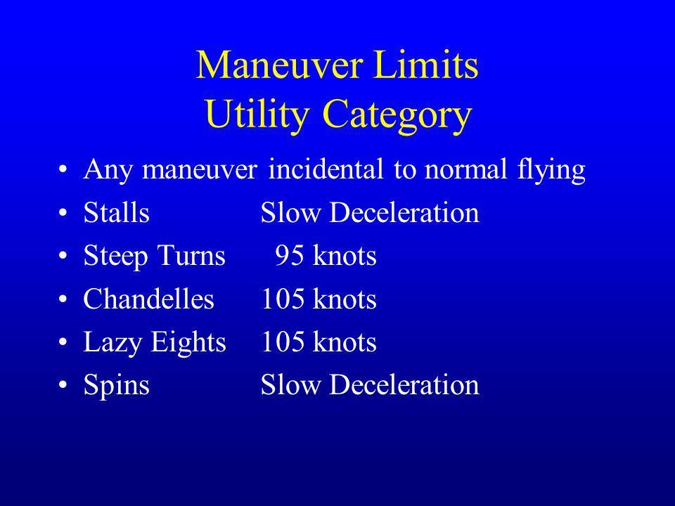 Maneuver Limits Utility Category