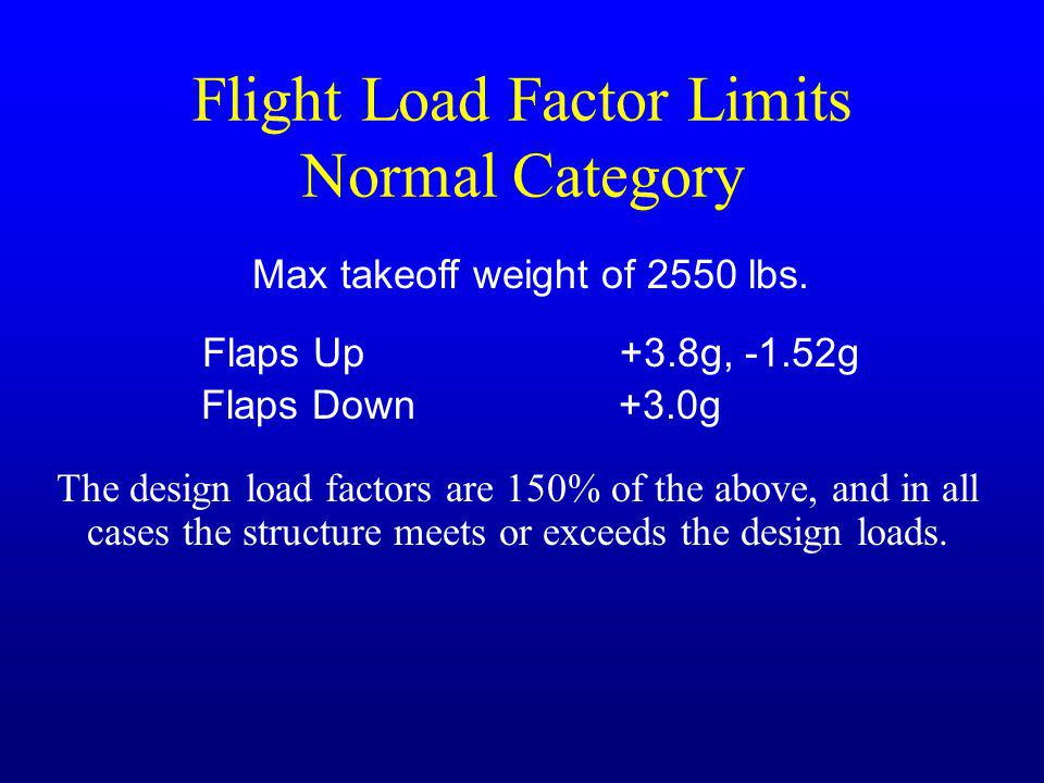Flight Load Factor Limits Normal Category