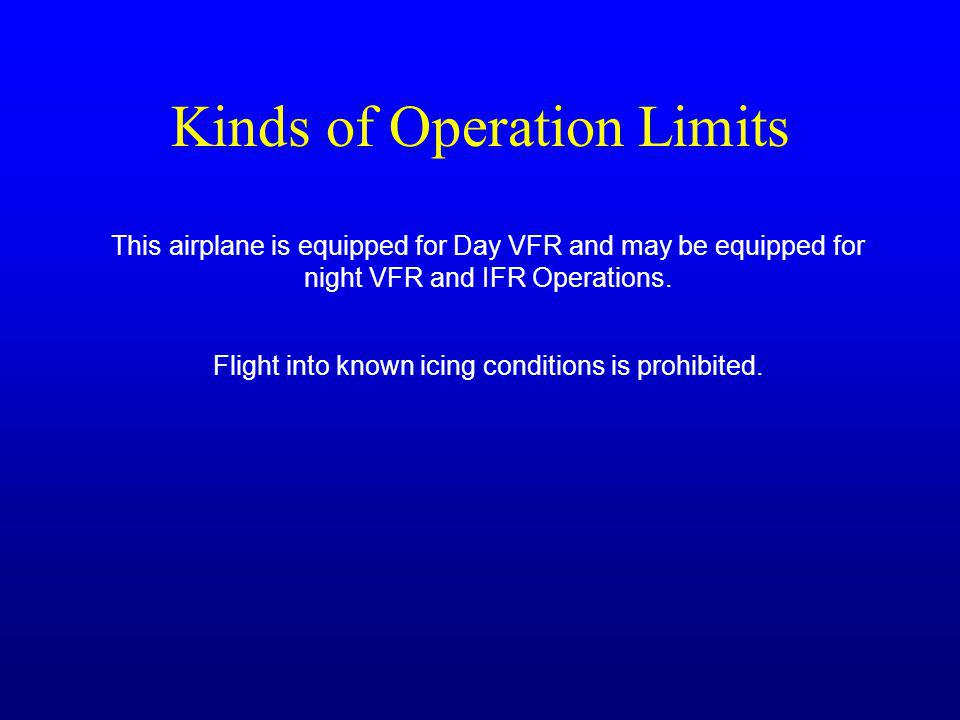 Kinds of Operation Limits