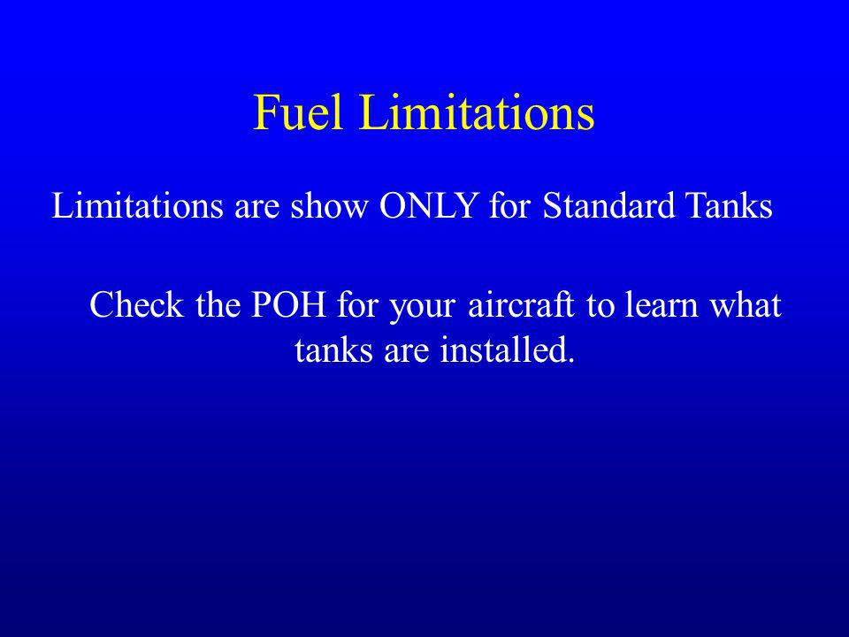 Check the POH for your aircraft to learn what tanks are installed.