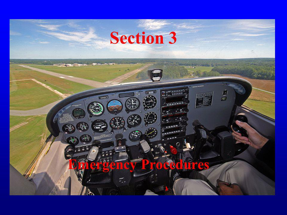 Section 3 Emergency Procedures
