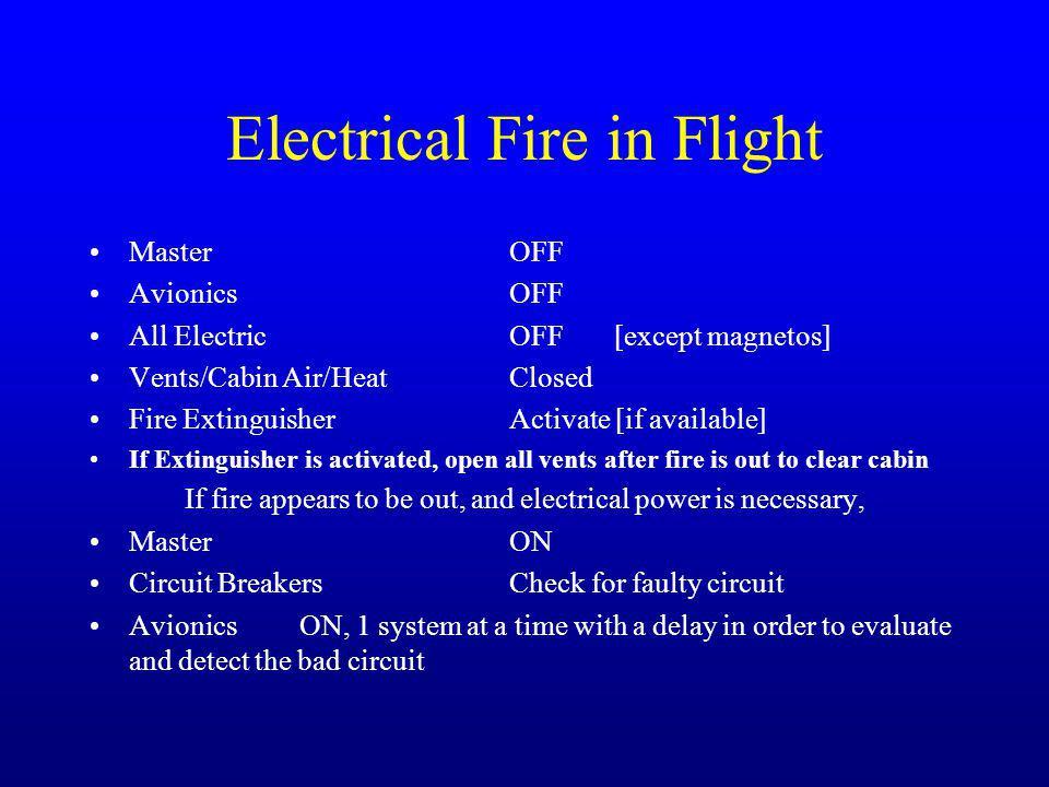 Electrical Fire in Flight