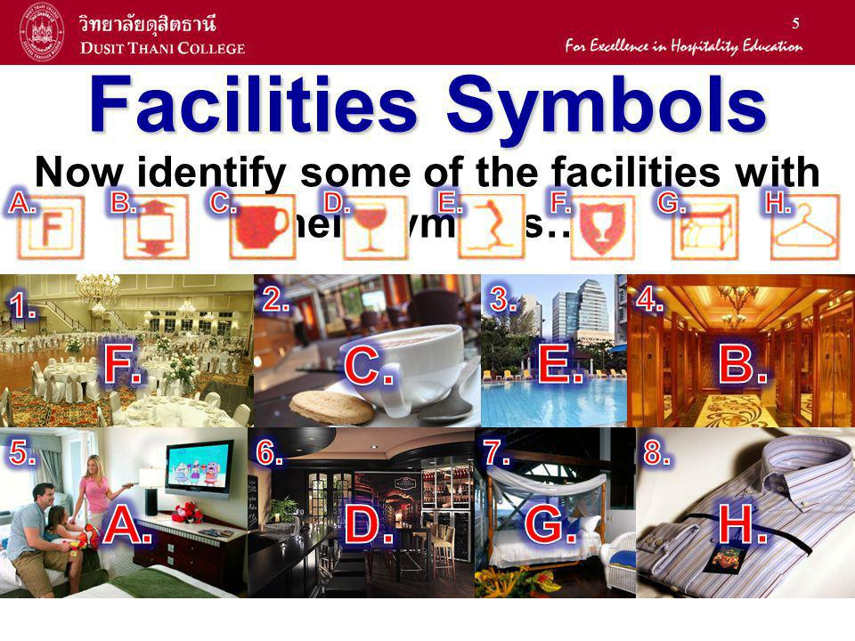 Now identify some of the facilities with their symbols…