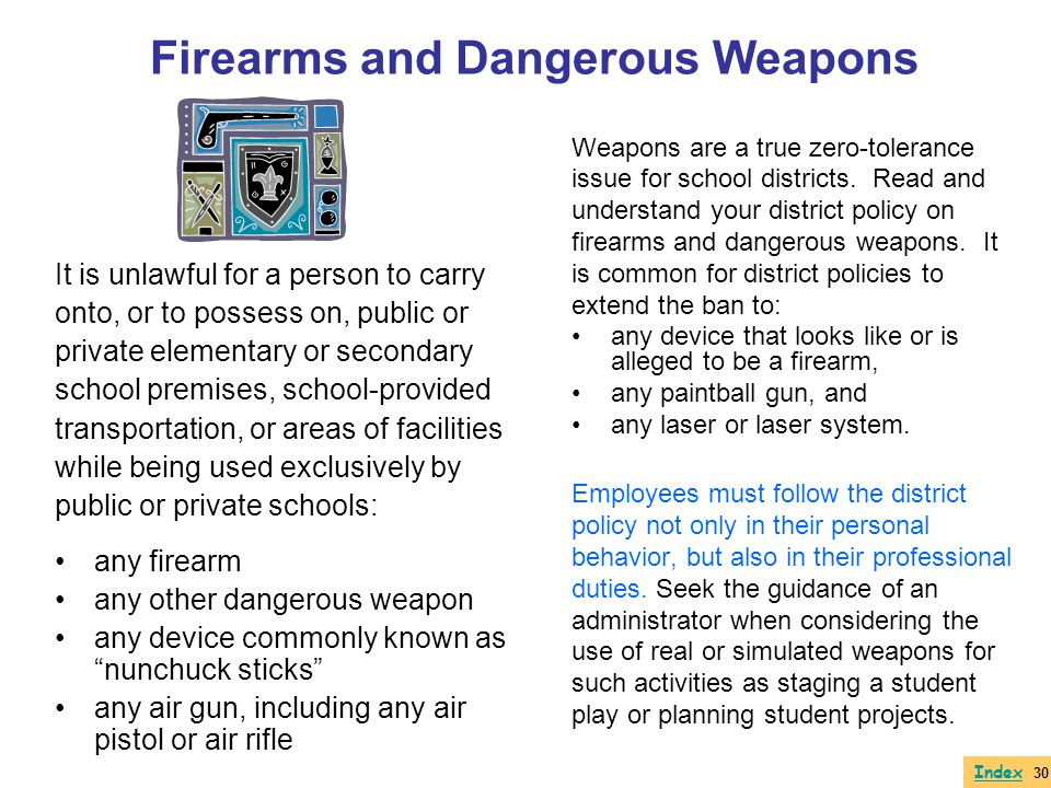 Firearms and Dangerous Weapons