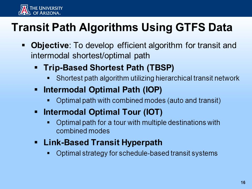 Transit Path Algorithms Using GTFS Data