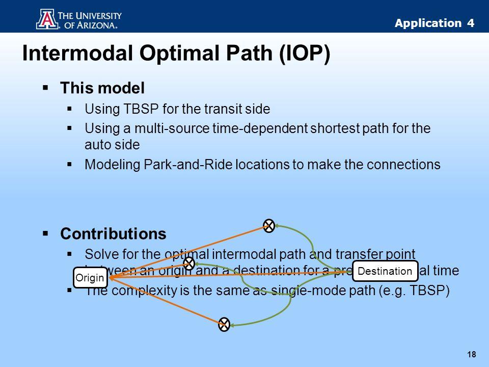 Intermodal Optimal Path (IOP)