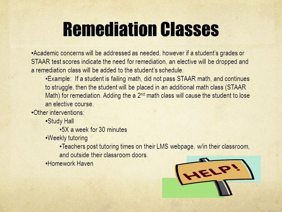 Remediation Classes