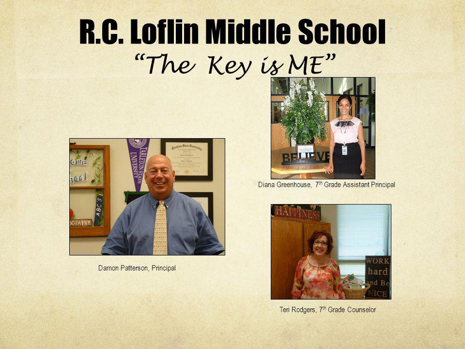 R.C. Loflin Middle School The Key is ME