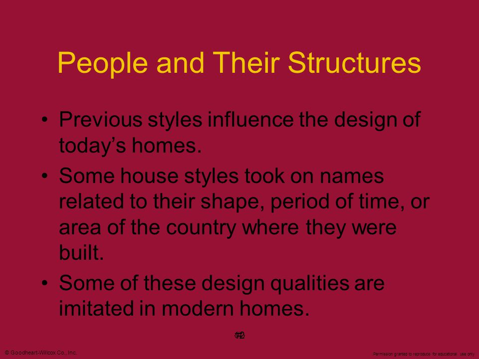 People and Their Structures