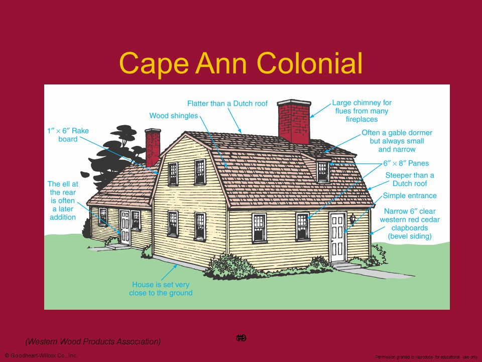 Cape Ann Colonial 19 ‹#› (Western Wood Products Association) 19
