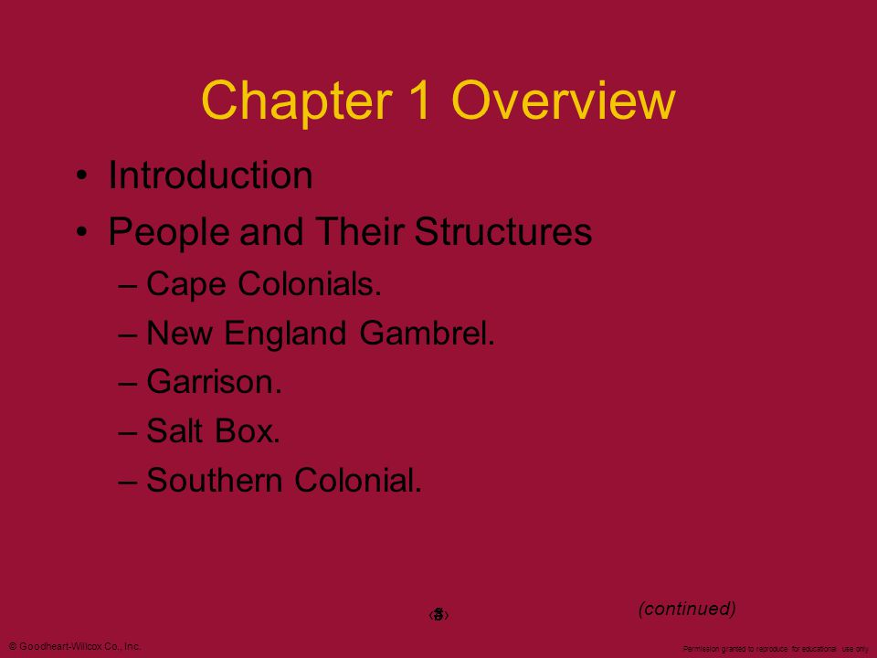 Chapter 1 Overview Introduction People and Their Structures