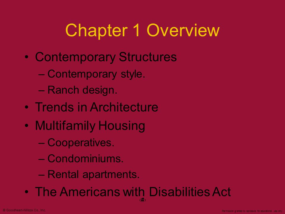 Chapter 1 Overview Contemporary Structures Trends in Architecture