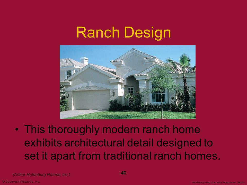 Ranch Design This thoroughly modern ranch home exhibits architectural detail designed to set it apart from traditional ranch homes.