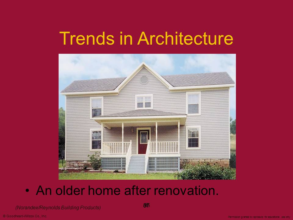 Trends in Architecture