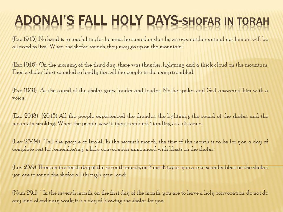 Adonai's Fall Holy Days-Shofar in Torah