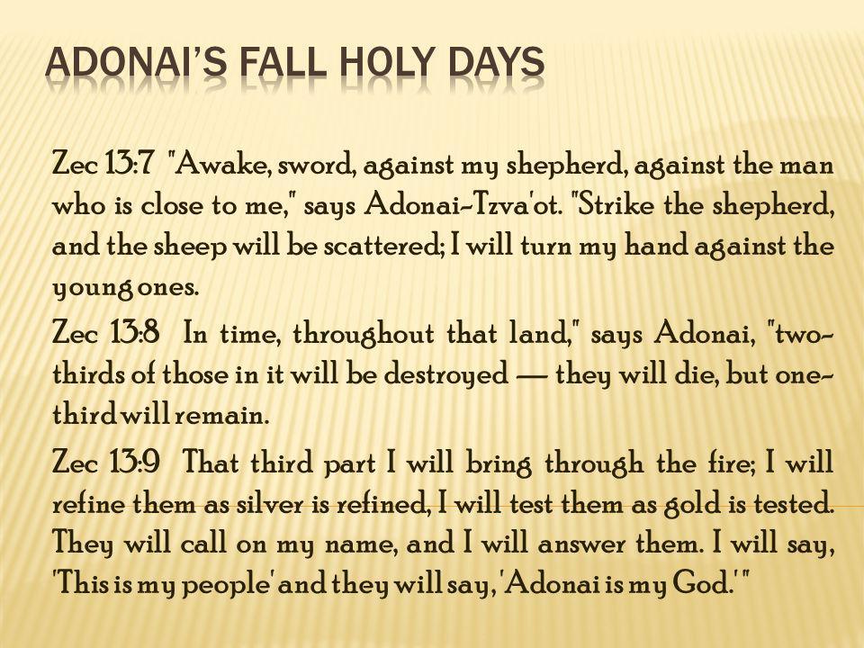 Adonai's Fall Holy Days