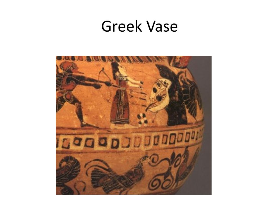 Greek Vase 2,500 years old depicting a monster that looks very much like a dinosaur.