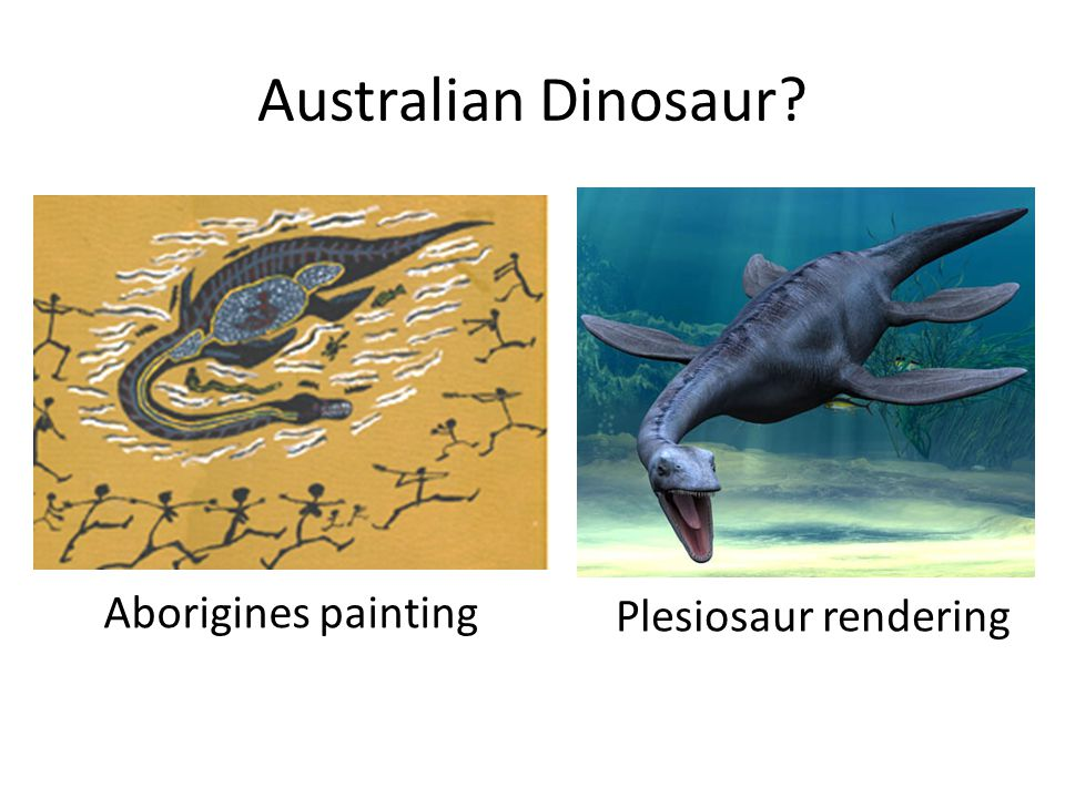 Australian Dinosaur Aborigines painting Plesiosaur rendering