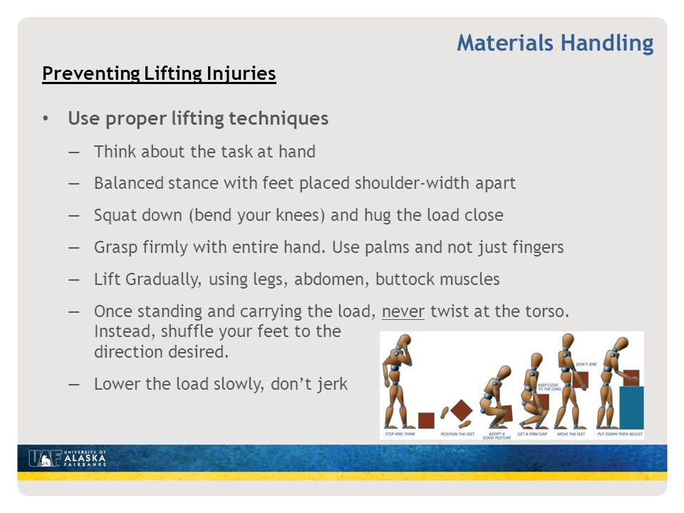 Materials Handling Preventing Lifting Injuries