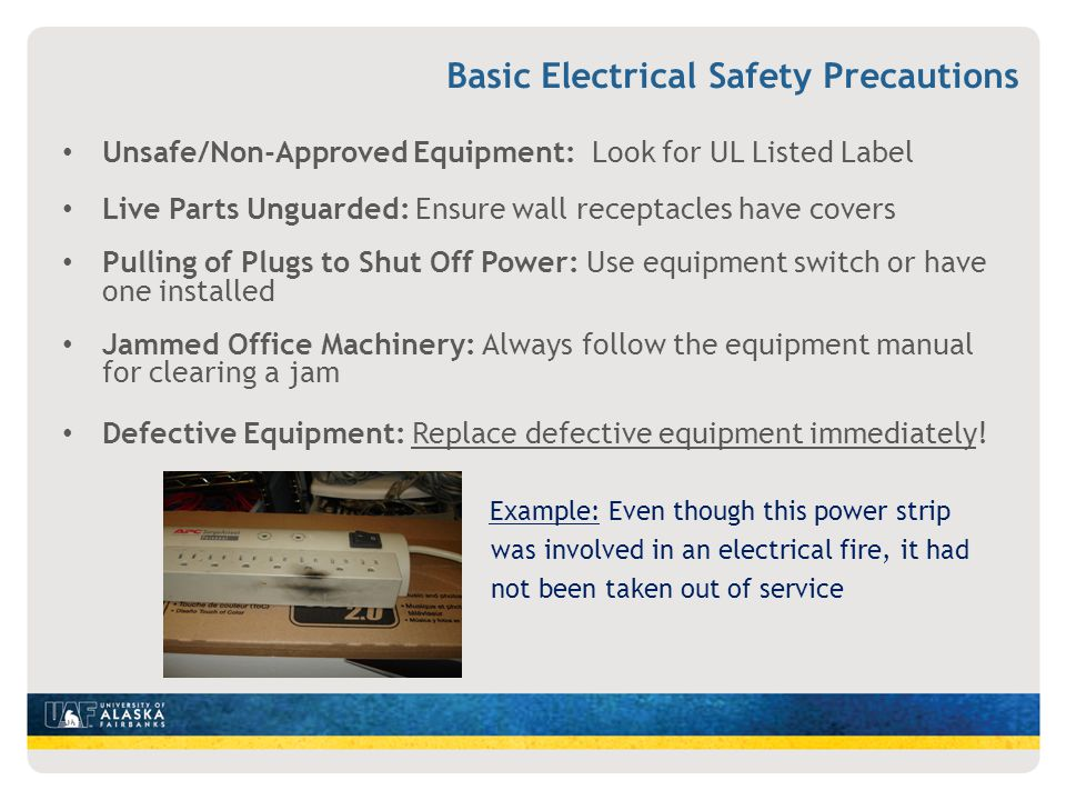 Basic Electrical Safety Precautions