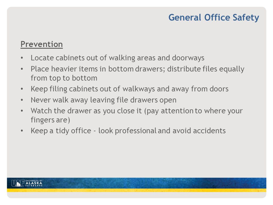 General Office Safety Prevention