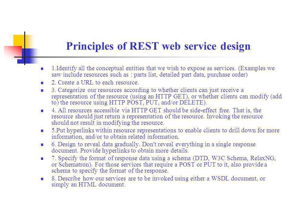 Principles of REST web service design
