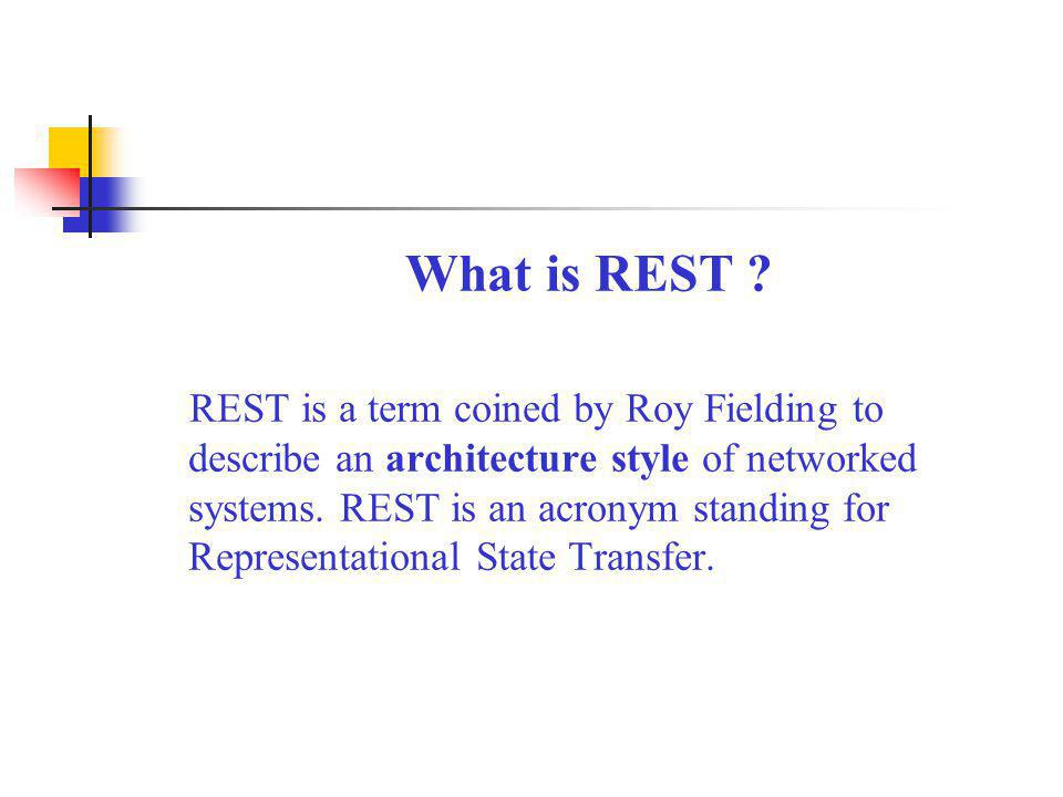 What is REST