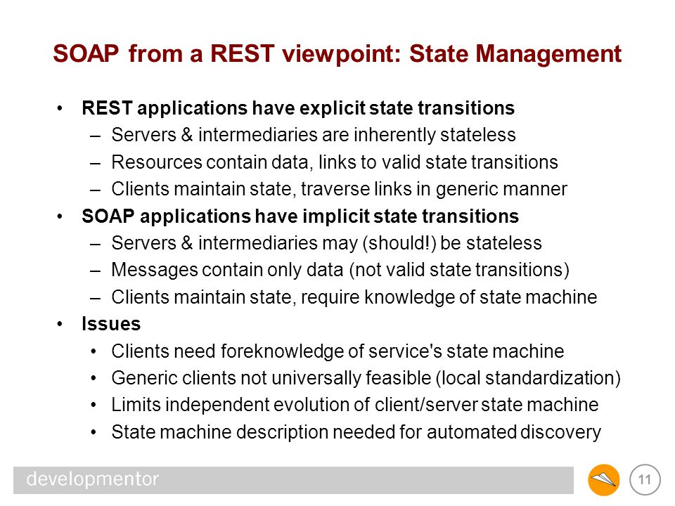 SOAP from a REST viewpoint: State Management