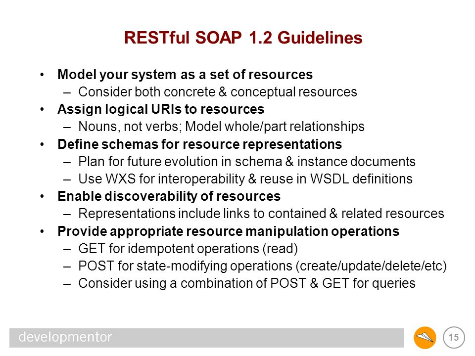 RESTful SOAP 1.2 Guidelines