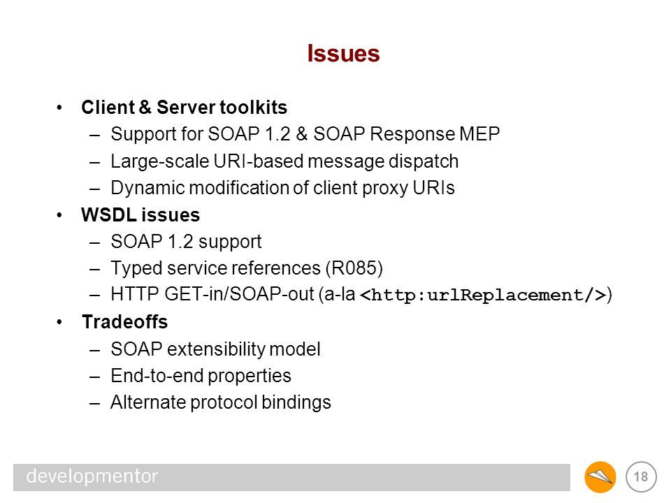 Issues Client & Server toolkits