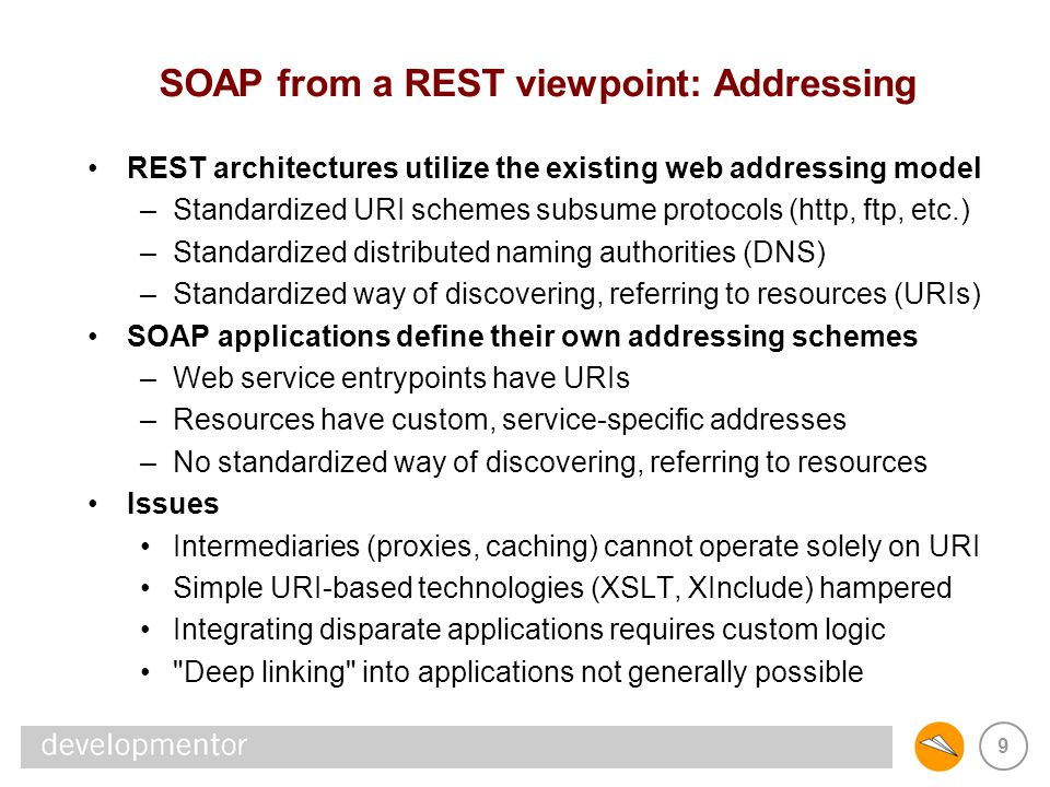SOAP from a REST viewpoint: Addressing